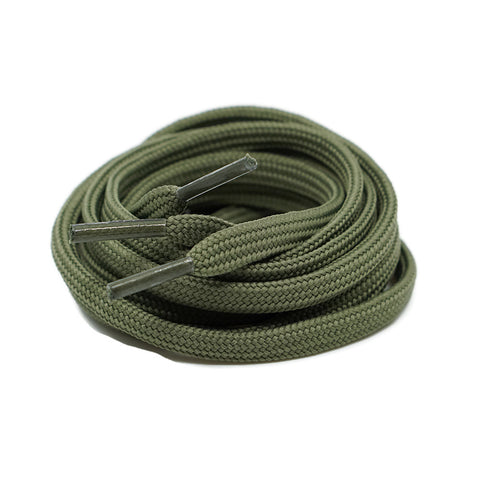 Flat Laces - Olive Green