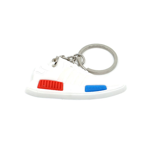 NMD Keychain - White Red Blue