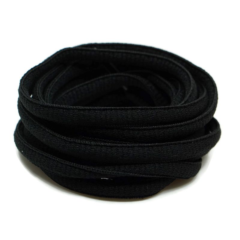 Oval Shoelaces - Black