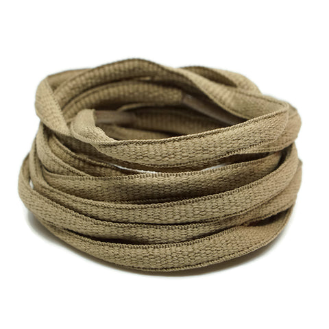 Oval Shoelaces - Brown