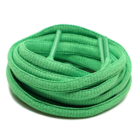 Oval Shoelaces - Green