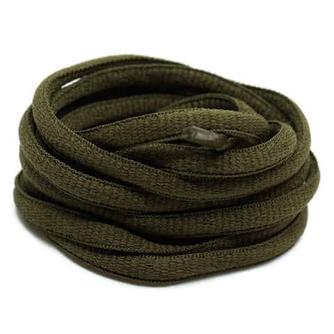 Oval Shoelaces - Olive Green