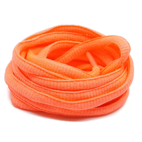 Oval Shoelaces - Salmon Orange