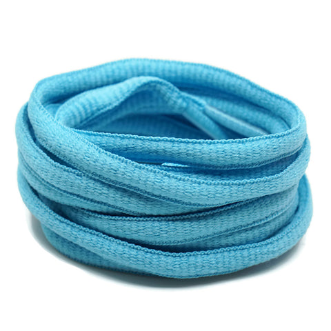 Oval Shoelaces - Sky Blue