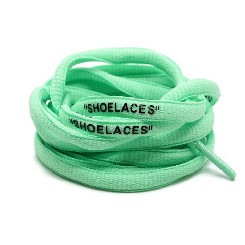 """SHOELACES"" Off White Inspired Oval Laces - Pastel Green"