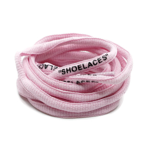 """SHOELACES"" Off White Inspired Oval Laces - Pastel Pink"