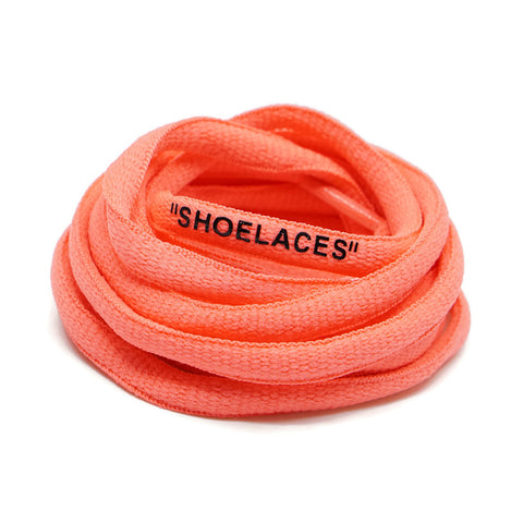 """SHOELACES"" Off White Inspired Oval Laces - Pastel Salmon Orange"