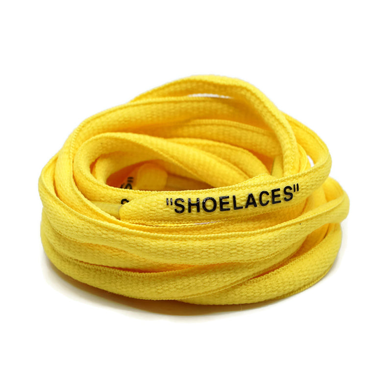 """SHOELACES"" Off White Inspired Oval Laces - Pastel Yellow"