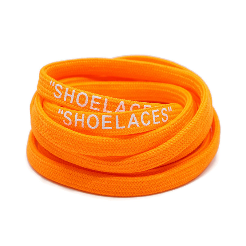 """SHOELACES"" Off White Inspired Flat Laces - Orange"
