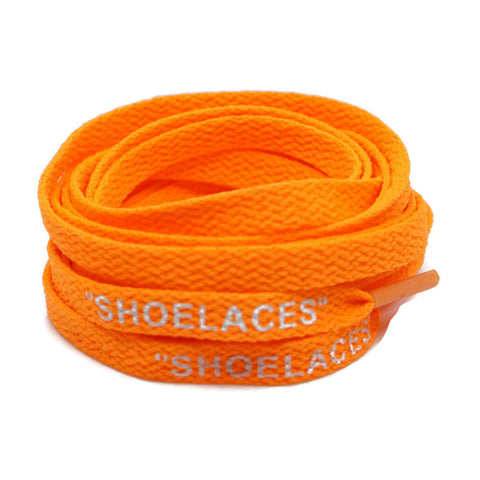 """SHOELACES"" Off White Inspired Flat Laces (LONG) - Orange"