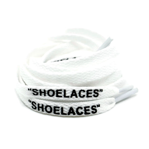 """SHOELACES"" Off White Inspired Flat Laces (LONG) - White"