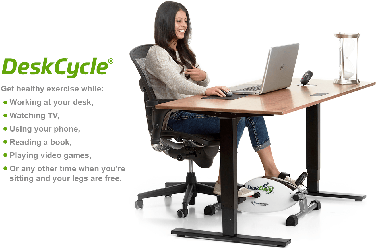 Incredible Deskcycle Under Desk Bike Exercise At Your Desk Beutiful Home Inspiration Papxelindsey Bellcom