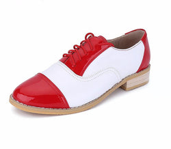 Leather Women's shoes lace-up - Deals Blast