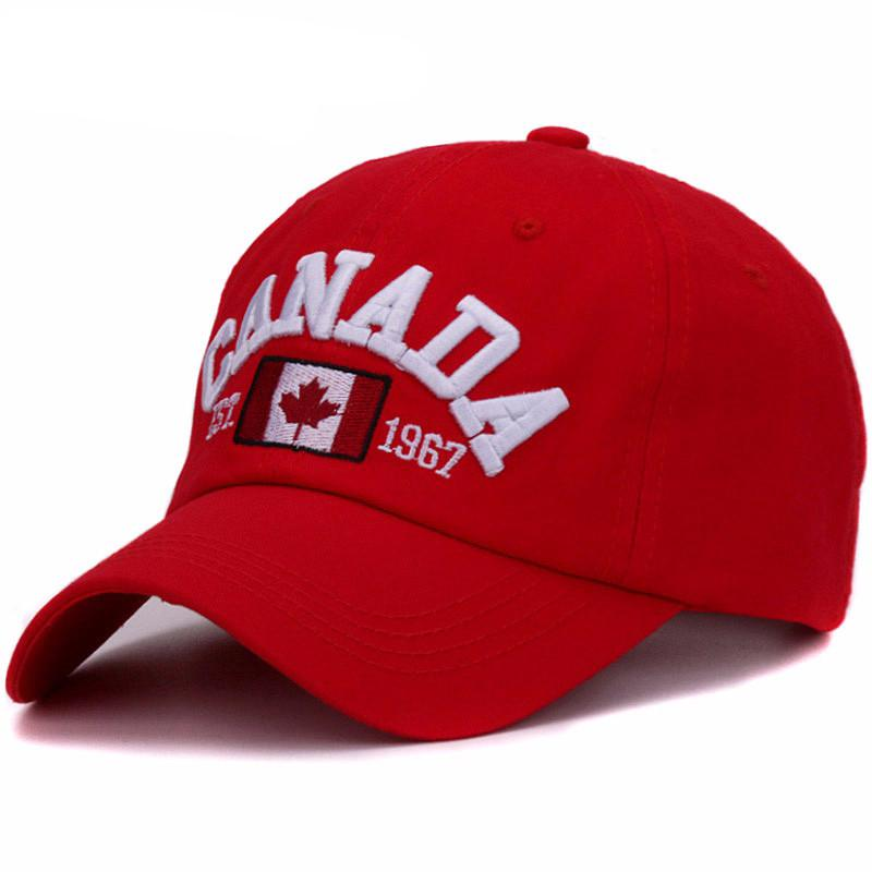 2fbce8f48d4 Canada letter embroidery baseball caps cotton gorra snapback curved dad hat  leisure outdoor women men sports