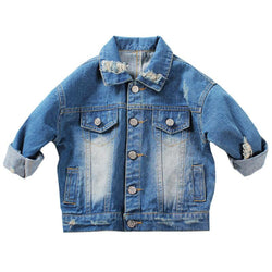 1-5Yrs Baby Boys Girls Hole Denim Jackets Coats New 2017 Fashion Spring Autumn Children Outwear Coat Kids Denim Jacket - Deals Blast