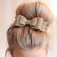 1 Pcs New Fashion Women Hair Clips Lady Girls Sequin Big Bowknot Barrette Hairpin Hair Bow Accessories - Deals Blast