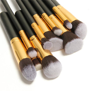 10 Pcs Professional Make up Brushes Set Make up Brushes Kit - Deals Blast