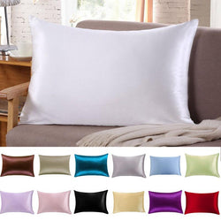 1 Pc Pillow Cover Silk Case 51cm x 76cm Bed Decor - DealsBlast.com