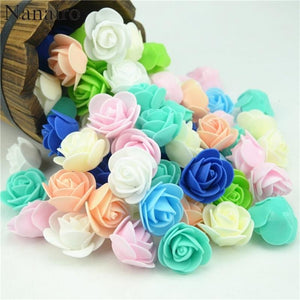 100pcs/lot Foam Artificial Rose Flowers - DealsBlast.com