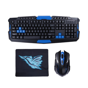 2.4G USB Gaming Wireless Keyboard and Mouse Combo Set Multimedia Game Gamer Kit Waterproof DPI Control For Desktop PC Laptop - DealsBlast.com