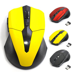 2.4G USB Red Optical Wireless Mouse 5 Buttons for Computer Laptop Gaming Mice - DealsBlast.com