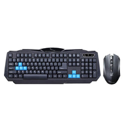 2.4GHz Wireless Keyboard Mouse Combo Set Wireless Suit Waterproof Keyboard +1600DPI Optical Gaming Mouse For Office For PC - Deals Blast
