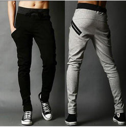 Men harlan pants fashion cotton lace-up sweatpants In the spring and autumn feet pants tracksuit bottoms - DealsBlast.com