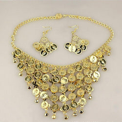Belly Dance Necklace With Earrings For Women