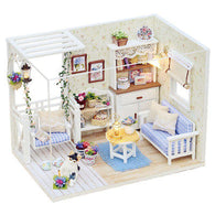 New Doll House Furniture Kits DIY Wood Dollhouse miniature with LED+Furniture+cover Doll house room - DealsBlast.com