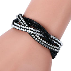 6 Layer Leather Bracelet Women - Deals Blast
