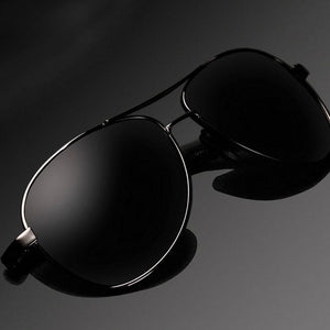 Oval sunglasses Brand Design Sunglasses Men Polarized UV400 Eyes Protect - DealsBlast.com