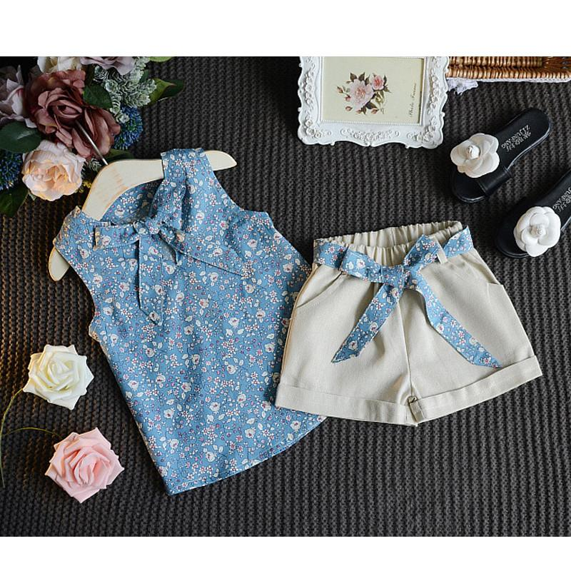 Baby Girl Clothes floral Fashion Cartoon Girls Summer Set Clothes