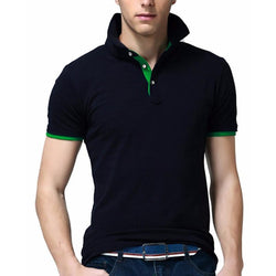 Mens Polo Shirt Short-Sleeve Solid Men Polo Homme Slim Turn Down Collar Camisa Plus Size Polo Shirt Mens Clothing - DealsBlast.com