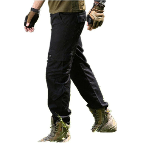 Fashion Mens Pants Multi Pockets Outdoors Military Long Trousers Male Casual Army Green Straight Cargo Joggers