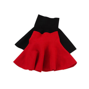 Children Girl Waist Skirt Kids Wool Knit Skirt Black Red Baby Tutu Skirt Pettiskirt Tutu Skirt 2 Color - DealsBlast.com