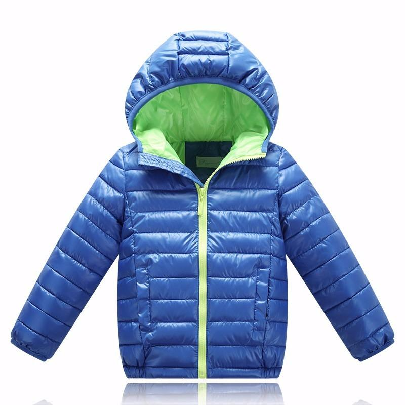 Children's Outerwear Boy Warm Hooded Coat Children Cotton-Padded Clothes kid jackets 5-11 years - DealsBlast.com