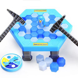 Ice Breaking Puzzle Table Games Balance Ice Cubes Knock Ice Block Wall Toy Desktop Paternity Interactive Family Fun Game - DealsBlast.com