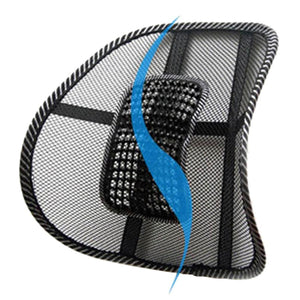 Massage Cushion Mesh Chair Relief Lumbar Back Brace Support Car Truck Office Home Cushion Seat Chair Lumbar High Quality - Deals Blast