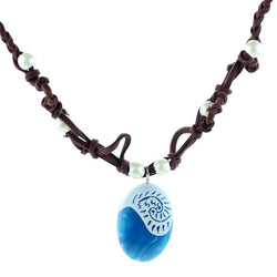 Moana Ocean Rope Chain Necklaces Blue Stone Necklaces & Pendants Leather Suede Choker Necklace for women Girls jewelry