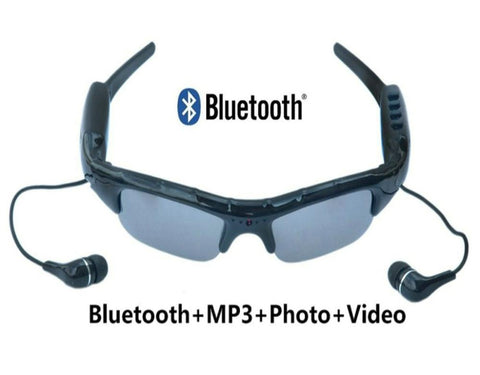NEW Support Bluetooth MP3 Player Photo video Sunglasses Camera Mini DV Camcorder For Outdoor Sport Mini Camera Glasses
