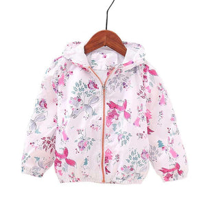 New Autumn Baby Coat And Jacket For Girl Cartoon Graffiti Hooded Windbreaker For Girls Full Sleeve Toddler Outerwear - DealsBlast.com