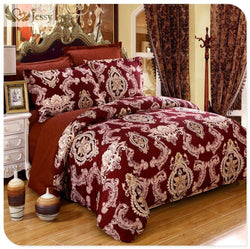 New Design high quality 4pcs Luxury European Jacquard bedding set duvet cover+bedsheet+pillowcase with twin queen king size - Deals Blast