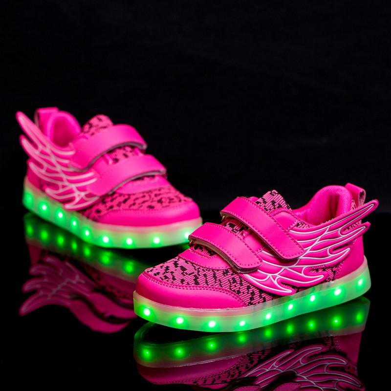 Men's Shoes Reasonable Colorful Led Lights Light Luminous Fluorescent Shoes Couple Pure White Korean Version Of The Wave Of Men And Women Shoes Usb Rec Shoes