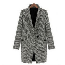 Wool Women Basic Coats Medium-Long Winter Jacket