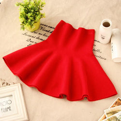 New Girls Spring & Summer Solid Skirts Girls High Waist tutu Skirt Baby Girls Party Skirts Kids - DealsBlast.com