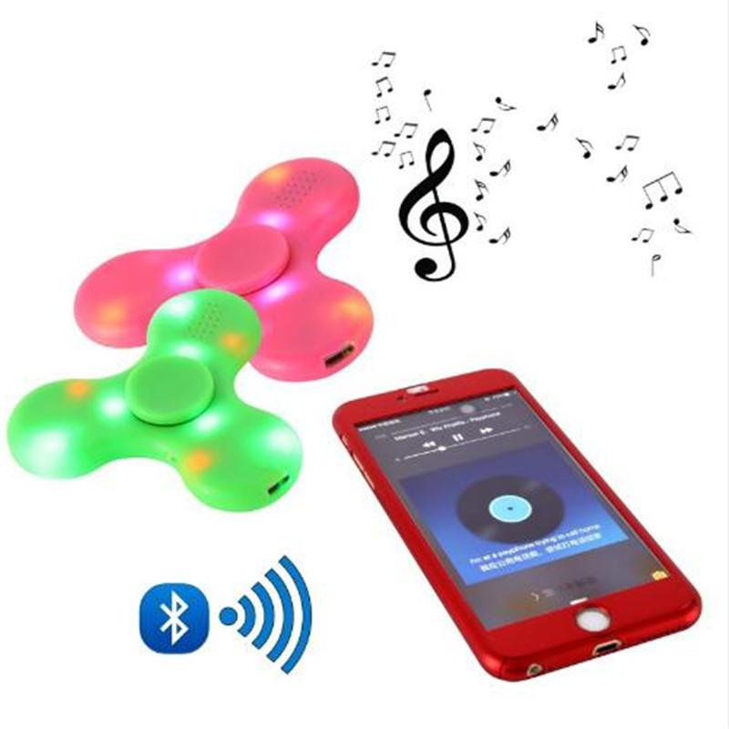 New LED MINI Bluetooth Speaker Music Fidget Spinner EDC Small Hand Spinner For Autism And Kids/Adult Funny Fidget Toy