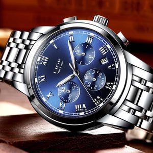 Men Luxury Chronograph Men Sports Waterproof Full Steel  Watch