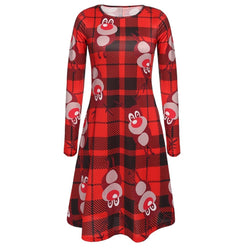 Women Christmas Long Sleeve Size Women Dresses Clothing - DealsBlast.com