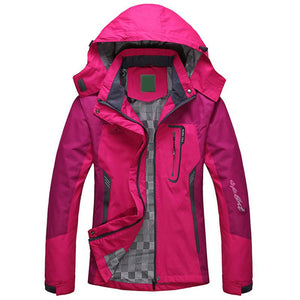 Women Winter Jacket Outdoor Jackets Hooded Sports Wind and Waterproof Female Coat Softshell Clothing - DealsBlast.com