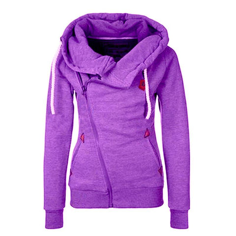 Women Hooded Fleece Jacket Sweatshirt